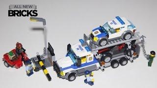 Lego City 60143 Auto Transport Heist Speed Build