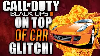 getlinkyoutube.com-Black Ops 3 Zombie Glitches - Shadows Of Evil On Top Of Car By Spawn Super Jump Glitch!