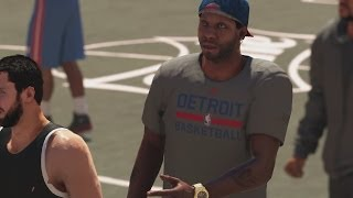 getlinkyoutube.com-NBA 2K14 PS4 My Career - 1st Park Session! Patch Fixed the Mode!