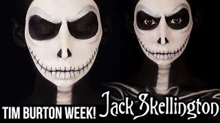 getlinkyoutube.com-Jack Skellington Makeup | HALLOWEEN 2014