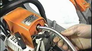 getlinkyoutube.com-Stihl 028av Chainsaw  CompressionTest