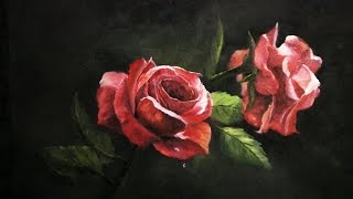 getlinkyoutube.com-Paint with Kevin Hill - Red Roses