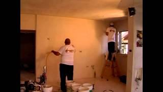 getlinkyoutube.com-כך מסיימים חדר של 50 מ' קירות שפכטל ב-10 דקות כולל תקרה!!