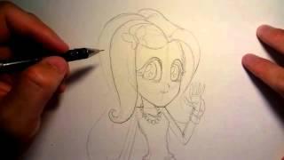 getlinkyoutube.com-วาดรูปการ์ตูน มายลิตเติ้ลโพนี่ ฟลัดเตอร์ชาย my little pony FlutterShy EG