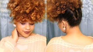 getlinkyoutube.com-Perm Rod Updo | 4A Natural Hair