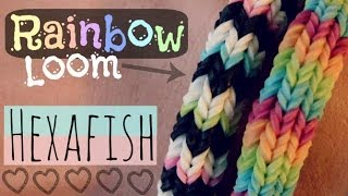 getlinkyoutube.com-Rainbow Loom : HEXAFISH Bracelet - How To - 6-Pin Fishtail - Advanced