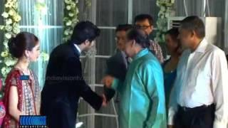 getlinkyoutube.com-Mammootty Son Dulquar Salman Wedding reception video from Indiavision