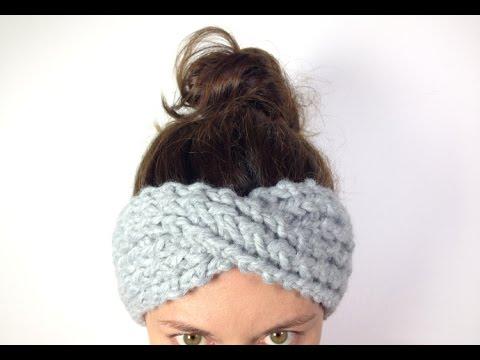 How to Loom Knit a Turban Headband / Ear Warmer (DIY Tutorial)