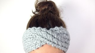 getlinkyoutube.com-How to Loom Knit a Turban Headband / Ear Warmer (DIY Tutorial)