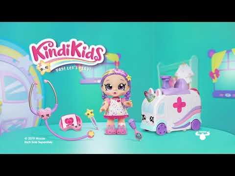 Kindi Kids Hospital Corner Shiver 'n' Shake Rainbow Kate