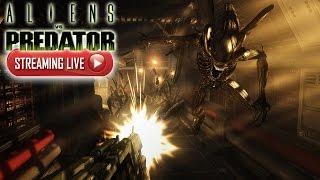 getlinkyoutube.com-THEY HAVE ACID BLOOD LIVE STREAM! | aliens vs Predator Gameplay
