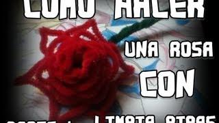 getlinkyoutube.com-como hacer una rosa con limpiapipas Parte 1