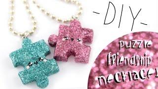 getlinkyoutube.com-Puzzle Friendship Necklaces! -DIY- | Kawaii Friday