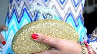 getlinkyoutube.com-طريقة عمل حقيبة يد راقية للعيد والمناسبات موضة : DIY glitter clutch tutorial