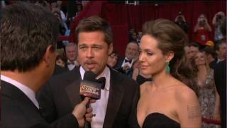 getlinkyoutube.com-HD Brad Pitt Angeline Jolie Kate Winslet Oscars 2009 Red Carpet