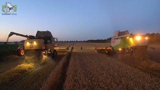 No Limits New Holland CX 8.85 Tier 4B versus Claas Lexion 560 Trekkerweb wheat harvest