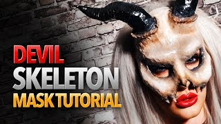 getlinkyoutube.com-Devil Skeleton Mask Tutorial