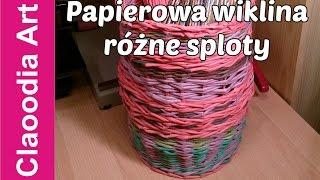 getlinkyoutube.com-Papierowa wiklina, różne sploty (wicker paper, tutorial)
