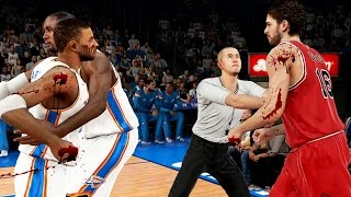 Bloody Fight With Pau Gasol! Ejected In Our First Game! - NBA 2K15 MyCareer #71