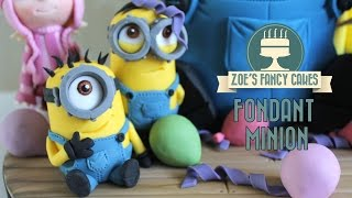 getlinkyoutube.com-Minions: How to make a minion model using gum paste or fimo despicable me minions