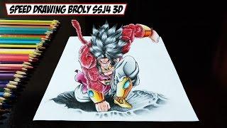 getlinkyoutube.com-Speed Drawing Broly SSJ4 3D