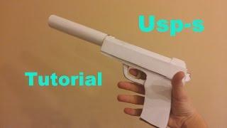 getlinkyoutube.com-How to make paper Usp-s /Jak zrobić papierowy Usp-s ( CS:GO)