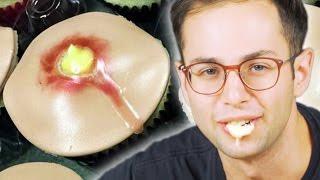 flushyoutube.com-People Try Pimple Cupcakes