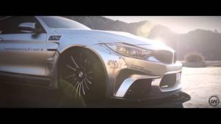 getlinkyoutube.com-Liberty Walk BMW M4 wrapped in Satin silver chrome by Impressive Wrap (LB performance)