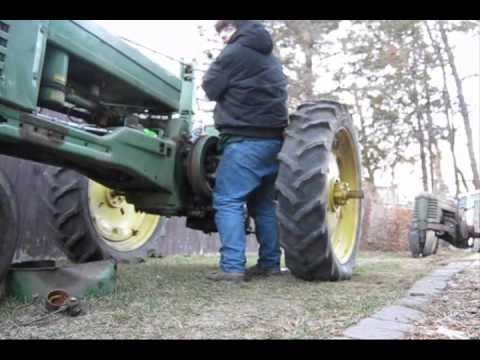 unstuck 2 john deere tractors with a handy wrench