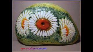 getlinkyoutube.com-decorazione su sasso  una tridimensionale decoupage