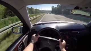 Mercedes-Benz E220 CDI (2001) on German Autobahn - POV Top Speed Drive