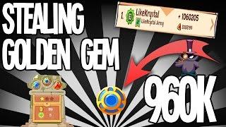 getlinkyoutube.com-BIG GOLDEN GEM STEAL! [960k] | King of Thieves