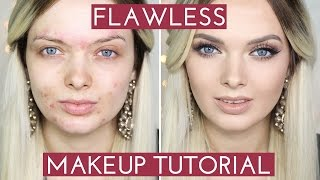 getlinkyoutube.com-ACNE COVERAGE// Flawless Foundation Makeup Tutorial //  MyPaleSkin