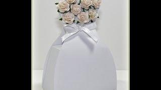 getlinkyoutube.com-Wedding Dress Favor Box Tutorial