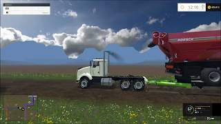 getlinkyoutube.com-Farming simulator 2015 log truck trailer mod!!