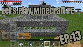 getlinkyoutube.com-Let's Play Minecraft PE EP.13 ฟาร์มอัตโนมัติ
