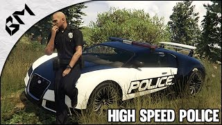 getlinkyoutube.com-GTA 5 - LSPDFR - Hot Pursuit Dubaï Police - Bugatti Veyron - Patrouille 08