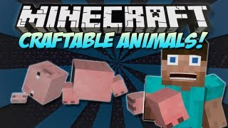 getlinkyoutube.com-Minecraft | CRAFTABLE ANIMALS & MOBS MOD! | Craft the ENDER DRAGON! [1.4.7]