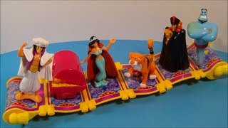 2004 DISNEY'S ALADDIN SPECIAL EDITION SET OF 6 HAPPY MEAL TOY'S VIDEO REVIEW