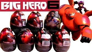 Disney Big Hero 6 Hiro & Baymax Toy Surprise Eggs Grandes Héroes Huevos Sorpresa by Toys Collector
