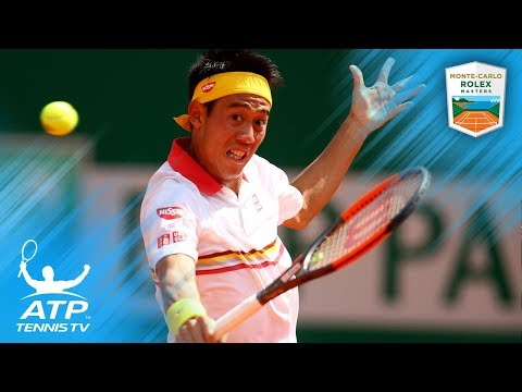 Two epic Nishikori dropshots vs Zverev in semi-final | Rolex Monte-Carlo Masters 2018
