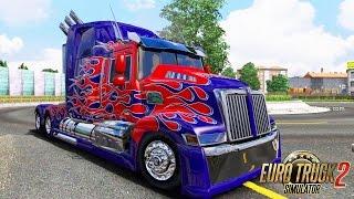 getlinkyoutube.com-Euro Truck Simulator 2 - Optimus Prime [8]