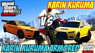 getlinkyoutube.com-GTA 5 PS4 - Karin Kuruma Vs Karin Kuruma Armored | #113 (GTA V)