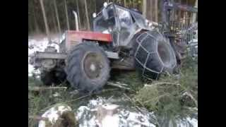 getlinkyoutube.com-Belarus Mtz 1025 difficult conditions in the forest