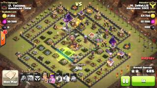 getlinkyoutube.com-[TH10] 3 Stars Mass Golem square base