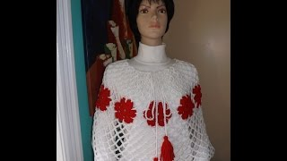 getlinkyoutube.com-Crochet Capa o Poncho Bien Facil