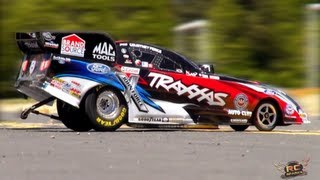 getlinkyoutube.com-RC ADVENTURES - CRASHiNG a FORD Mustang NHRA Funny Car Race Replica - 1/8 Scale: TRAXXAS