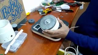 getlinkyoutube.com-Esmeril feito com motor de liquidificador