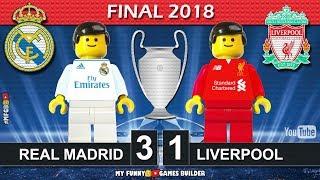 Champions League Final 2018 • Real Madrid vs Liverpool 3-1 • Kiev All Goals Highlights Lego Football width=
