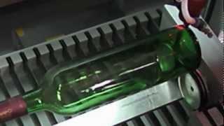 getlinkyoutube.com-Laser rotary engraving on glass bottle, China laser machine